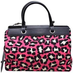 Bottega Veneta Leopard Print Bag +Cross Body Strap